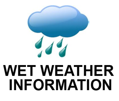 Click here for Wet Weather Information and if any games are off